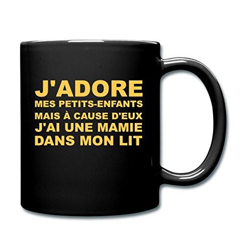Spreadshirt Papy J'Adore Mes Petits-Enfants Mug uni, noir