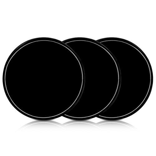 kwmobile 3X Universal Gel Klebepads - Doppelseitig klebende Anti-Rutsch Silikon Gelpads Schwarz -...