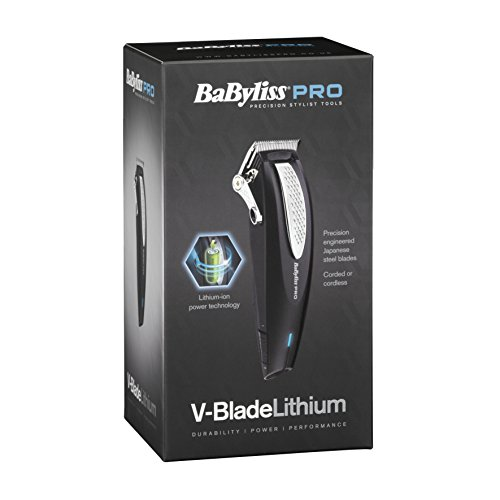 babyliss pro v-blade - 41b2uftdj L - Babyliss Pro V-Blade Lithium Clipper