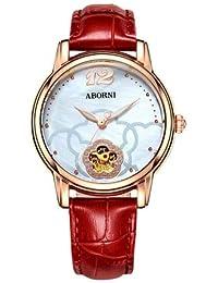 2bd1270b5b02 ZCCZJBXS Relojes creativos para Mujer Esqueleto mecánico automático  Luminoso Reloj de señora Pulsera de Oro Rosa