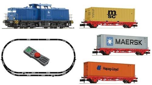 Fleischmann 931882 Digitales Startset: BR 204 mit Containerzug, PRESS