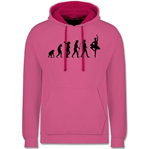 Evolution - Ballett Evolution - Kontrast Hoodie Rosa/Fuchsia