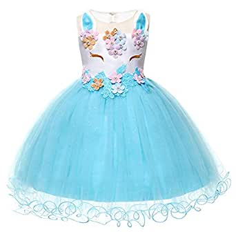 adc605abcb Girls Unicorn Costume Cosplay Dress Party Outfit Fancy Dress Princess Tutu  Skirt Festival Performance Birthday Pageant