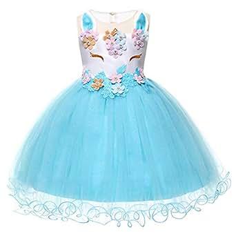 7bd8e575 Girls Unicorn Costume Cosplay Dress Party Outfit Fancy Dress Princess Tutu  Skirt Festival Performance Birthday Pageant