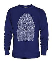 Candymix - foundland Dog Sketch - Unisex Sweatshirt Mens Ladies Sweater Jumper Top