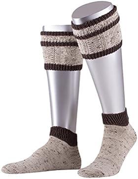 Lusana Herren Trachtenstrümpfe Kurz-Loferl Loden Tweed