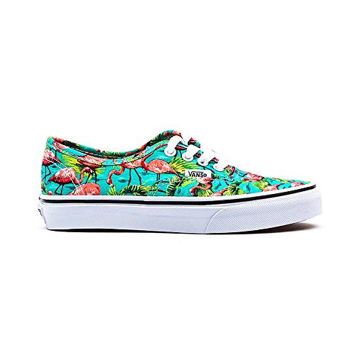Vans Authentic, Chaussons Sneaker Mixte Enfant Blau - (Flamingo) Turquoise / True White