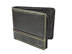 Imex Mens Stylish Black Genuine Leather Wallet