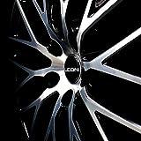 Finest Folia 4X Nabendeckel Leon 55mm ABS Kunststoff OEM Qualität Gel Emblem Aluminum Deckel (Schwarz Glanz, Aluminium Poliert) Vergleich