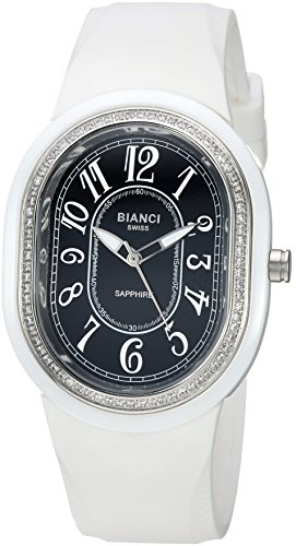 ROBERTO BIANCI WATCHES Women's 'Sorrentina' Swiss Quartz Ceramic and Silicone Casual Watch, Color:White (Model: RB58361)