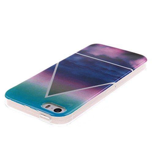 Cozy Hut ® für iPhone SE / 5 / 5S, Schutzhülle / Case / Cover / Hülle / TPU Gel Skin Colorful Pattern Bunte Muster Kunststoff Serie für iPhone SE / 5 / 5S Hülle Beutel Pattern Print Printing Drawing M Triangle Wolken