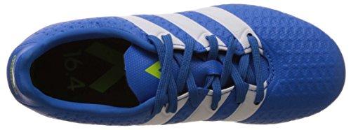 adidas Ace Flexible Ground, Chaussures de Football Amricain Mixte Enfant, UK Bleu (Shock Blue/Footwear White/Semi Solar Slime)
