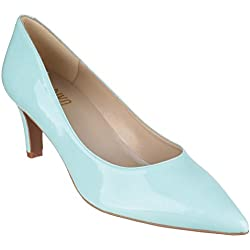 Riva Candy II Patent Ladies Court Shoes Green - 40