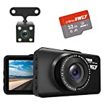 Dash Cam Front and Rear Camera FHD 1080P with Night Vision and SD Card Included, 3 Inch IPS Screen Dash Cam for Cars, 170°Wide Angle Dashboard Camera DVR Motion Detection Parking Monitor G-Sensor HDR 8