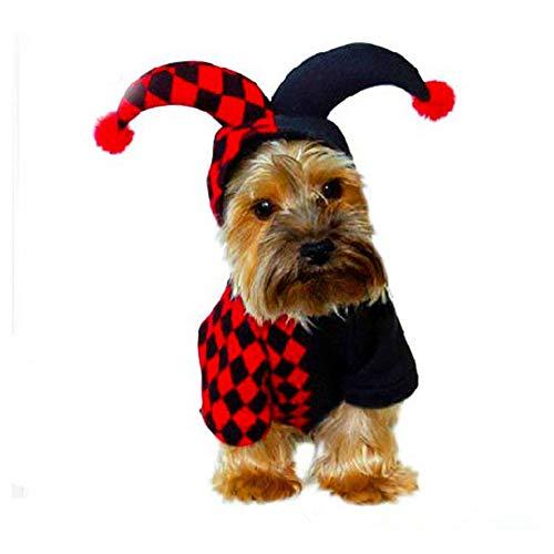 (MTSBW Halloween Pet Dog Clothes Puppy Dreidimensionale Dress up Clown Weihnachten,S)