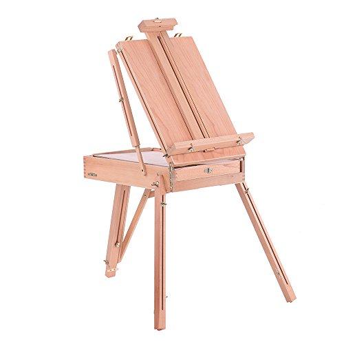 KKmoon Professionale pieghevole Arte Artista legno cavalletto di legno Vernice Sketch Disegno di riquadri treppiede per la pittura a olio Schizzo