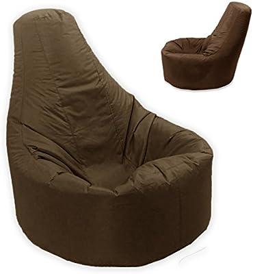 Grande puf reclinable Gamer interior y exterior adulto Gaming XXL marrón asiento-Beanbag silla (agua y resistente a la intemperie)