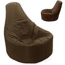 Grande puf reclinable Gamer interior y exterior adulto Gaming XXL marrón asiento–Beanbag silla (agua y resistente a la intemperie)