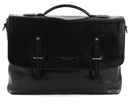 CARTELLA THE BRIDGE KALLIO BRIEFCASE 06320701 7R NERO