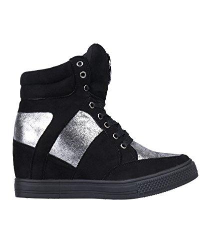 5309-BLK-4 (Zapatillas Mujer Moda)