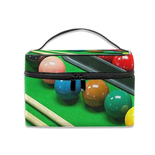 Ladies\'portable Travel Cosmetic Bag, Multi-Functional Portable Bag, Finishing Bag-Snooker Game Pool