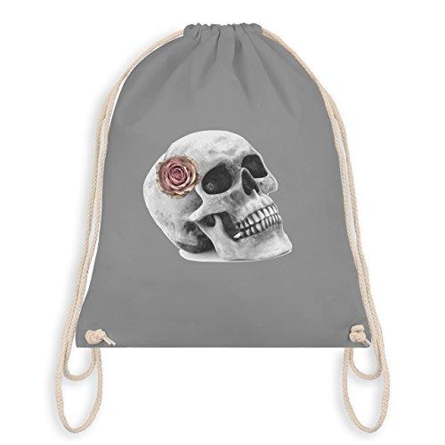 Rockabilly - Totenkopf Rose Vintage Skull - Unisize -