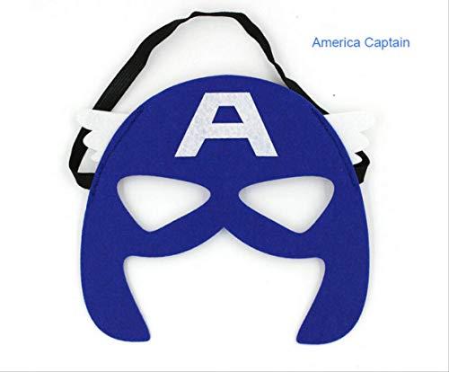 Wbdd Superhelden Maske Cosplay Superman Batman Spiderman Hulk Thor Ironman Prinzessin Halloween Weihnachten Kinder Erwachsene Party Kostüme Masken Captain America 2 (America 2-halloween-kostüm Captain)