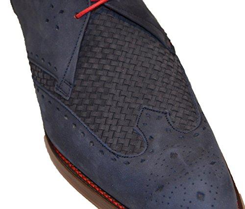 Jeffery West , Chaussures de ville à lacets pour homme Navy(Nubuck)