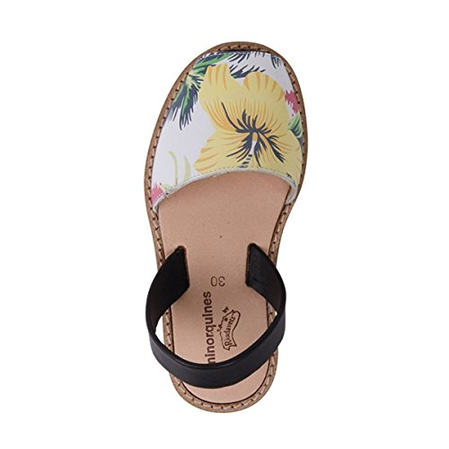 Minorquines - Sandales Avarca Cuir Tropical - Enfant Multicolore