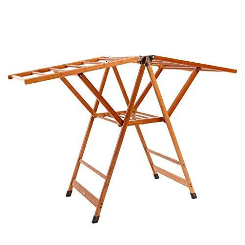 QAZ Trockengestelle Falten Airfoil Teleskop Balkon Kinder Handtuchhalter/Bambus Kleiderbügel (größe : L)