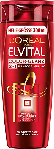 L'Oréal Paris Elvital Shampoo Color Glanz 2in1, 3er Pack (3 x 300 ml)