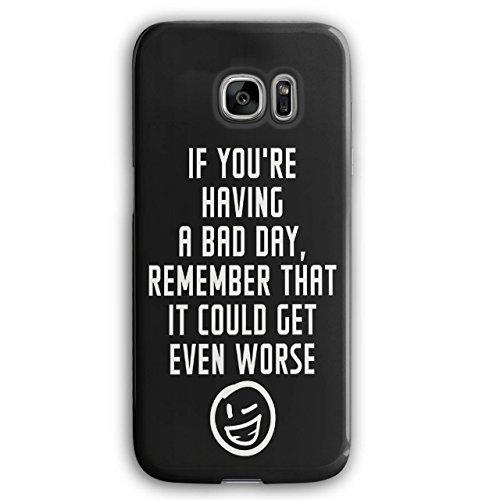 Optimistisch Sprichwort Komisch Winky Smiley Schwarz 3D Samsung Galaxy S7 Edge Fall | Wellcoda