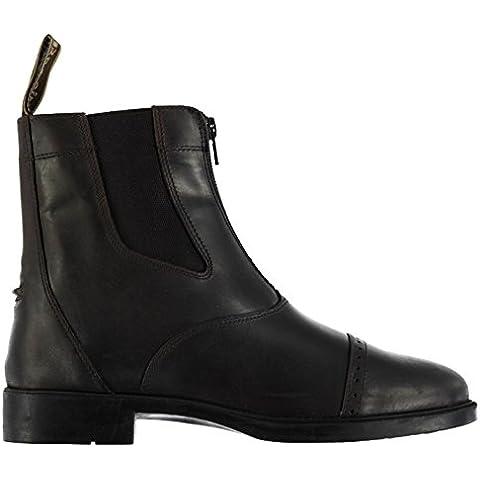 Brogini Hombre Coventry Jodhpur Botas Cremallera Zapatos Perforado Elegante
