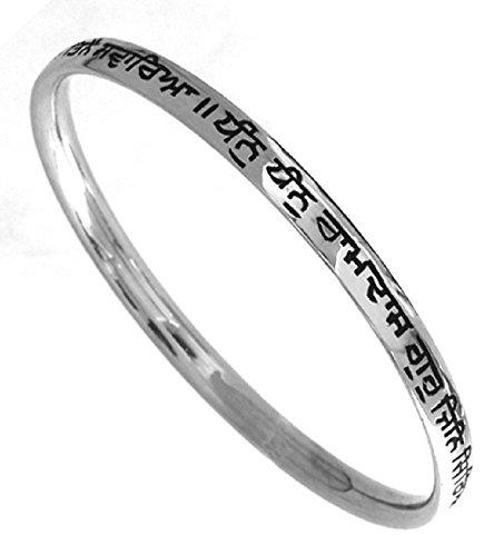 Sikh Karas Guru Ram Das Silver Kada For Men (S)