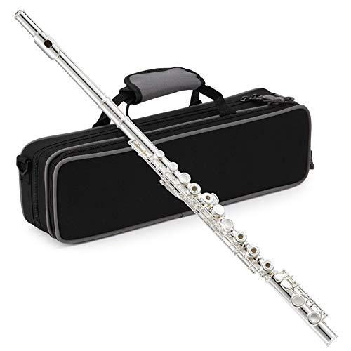 Öffnen/Schließen-Loch-C Flute 16-Tasten-versilberten Flute Satz Instrument Mit Flute Halterung Kasten Reinigungswerkzeug