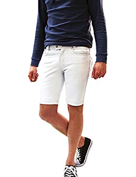 Leder Short Pants Lederhose Lederjeans Bockle® 1991 Short White Dream