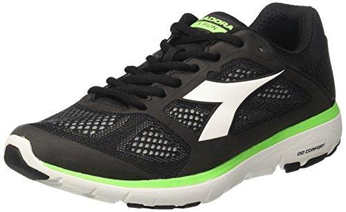Diadora X Run, Chaussures De Course À Pied Pour Homme Noir (jet Black / White)