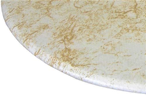 Tischdecke rund 91,4cm zu 121,9cm Elastic Edge Spannbettlaken Vinyl Tisch Cover Marmor Muster Alabaster Gold - Edge Kindersicher