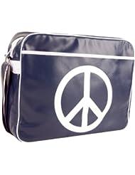 """Urban Factory Peace & Love Bag Sacoche pour Ordinateur Portable 16"""" Collection Vintage"""