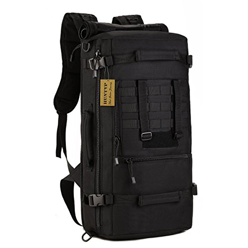 Huntvp zaino sportivo 50l, zaino militare tattico molle impermeabile borsa per campeggio alpinismo escursionismo ciclismo viaggio trekking sport