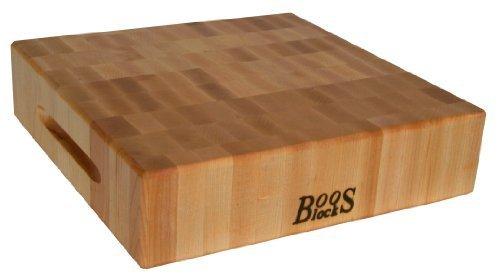 John Boos 18 by 18 by 3-Inch End Grain Maple Chopping Block by John Boos Boos Chopping Block