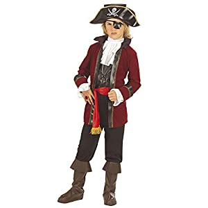 WIDMANN wdm55597?Disfraz para niños pirata de isla del t (140cm/8?10años), multicolor, XS