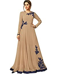 Kings Fashion Bazaar Women Banglory Silk & Georgette Anarkali Semi-Stitched Gown (Bottom And Dupatta Not Available...