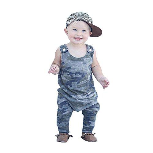 Bekleidung UFODB Neugeborenes Baby Mädchen Jungen Strampler Ohne Arm Jumpsuits Overall Spielanzug Ausstattungs Sommer Baby Kleidung