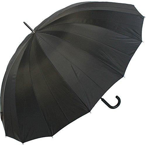 Paraguas para golf XXL de 16 varillas, color negro
