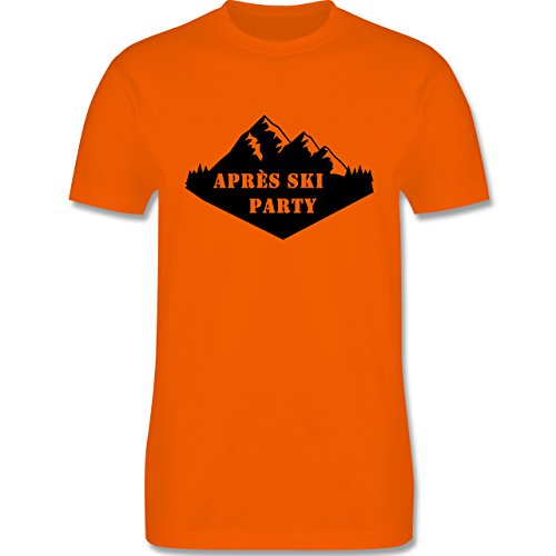 Après Ski - Apres Ski Party - Herren Premium T-Shirt Orange