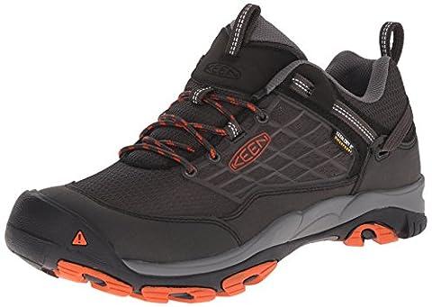 KEEN Men's Saltzman WP Outdoor Shoe, Raven/Koi, 10 M US