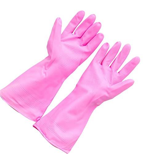 wyxhkj Wiederverwendbare Haushaltsgummi Handschuhe wasserdicht Küche Reinigung Handschuh für Dish Waschen, Wäsche und Garten (C)