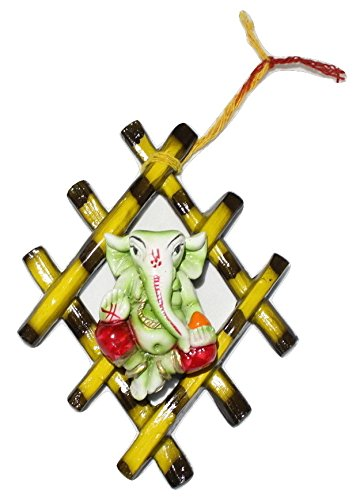 Venus TM Shree Ganesha Wooden Net - Wall Hanging for Home Decor | Gift | Size 6 inches | Code NJ-1  available at amazon for Rs.390