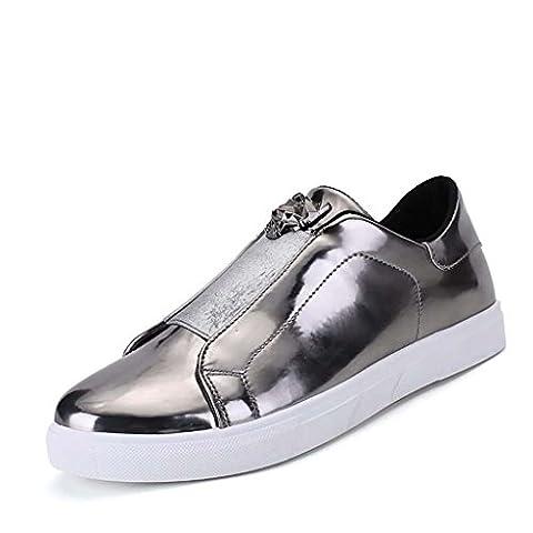 ZXCV Outdoor Schuhe Herren-Lederschuhe und Outdoor-Freizeitschuhe ( Farbe : Silber , größe : 43 )